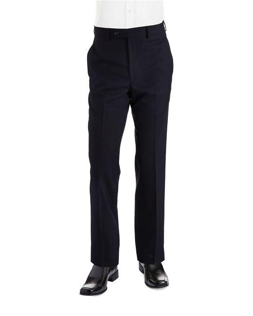 Lauren by Ralph Lauren | Blue Classic Fit Mid-weight Flat-front Wool Trouser Pants for Men | Lyst