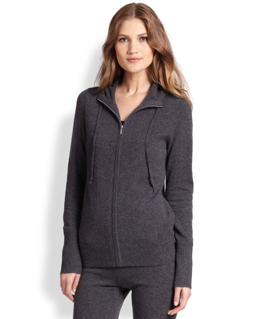 Saks Fifth Avenue   Gray Cashmere Hoodie   Lyst