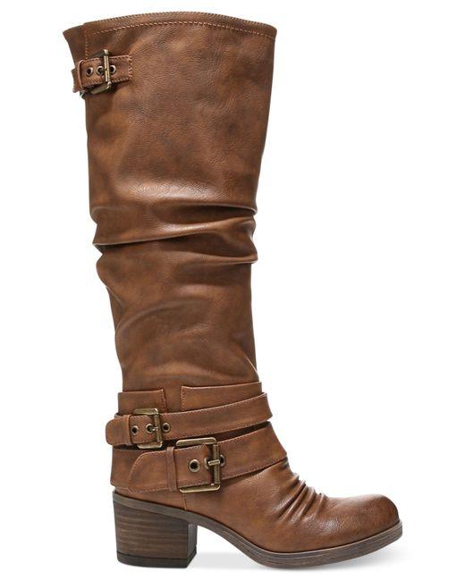 carlos by carlos santana boots in brown cognac