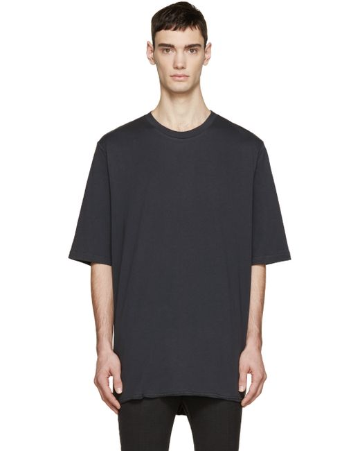 3 1 phillip lim black extra long t shirt in black for men