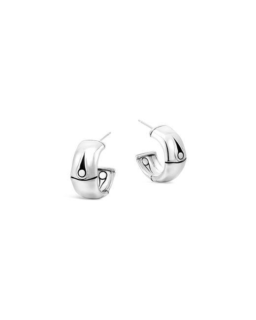 John Hardy | Metallic Bamboo Silver Small Hoop Earrings | Lyst