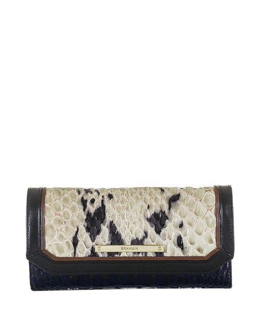 Brahmin   Blue Melbourne Collection Soft Checkbook Wallet   Lyst