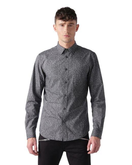 DIESEL | Gray New-sonora-e Denim Shirt Western Light for Men | Lyst