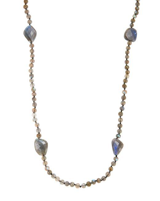 Bavna | Labradorite & Black Spinel Necklace | Lyst