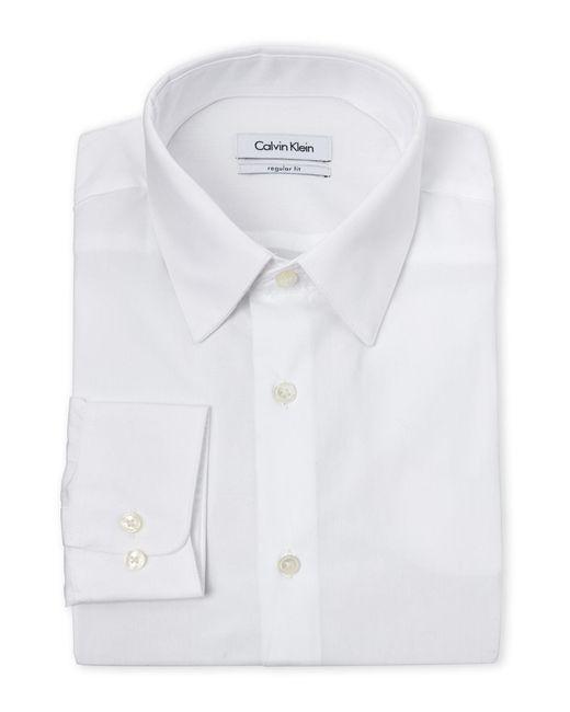 Calvin Klein - White Regular Fit Dress Shirt for Men - Lyst