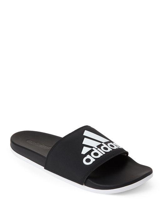 c0dabe347b98 Lyst Adidas Black White Adilette Comfort Slide Sandals In Black