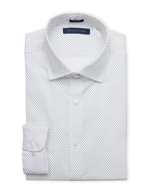 Tommy Hilfiger   White Dash Slim Dress Shirt for Men   Lyst
