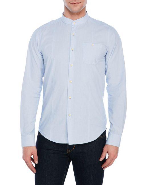 Dstrezzed Pinstripe Patch Pocket Shirt In Blue For Men Lyst