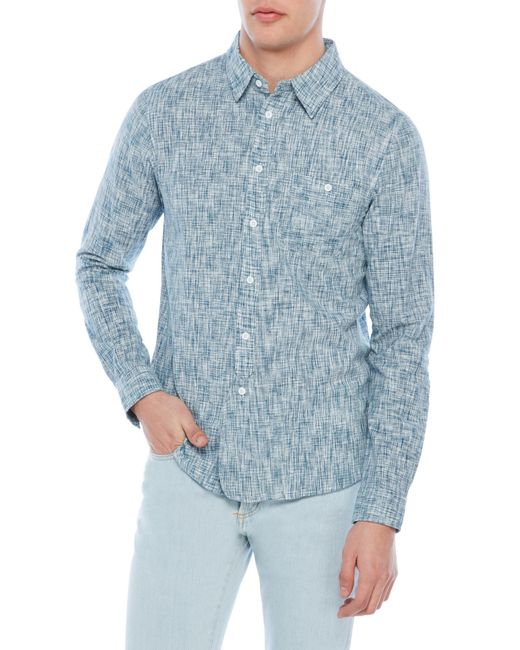 Native youth sleet shirt in blue for men lyst for Century 21 dress shirts