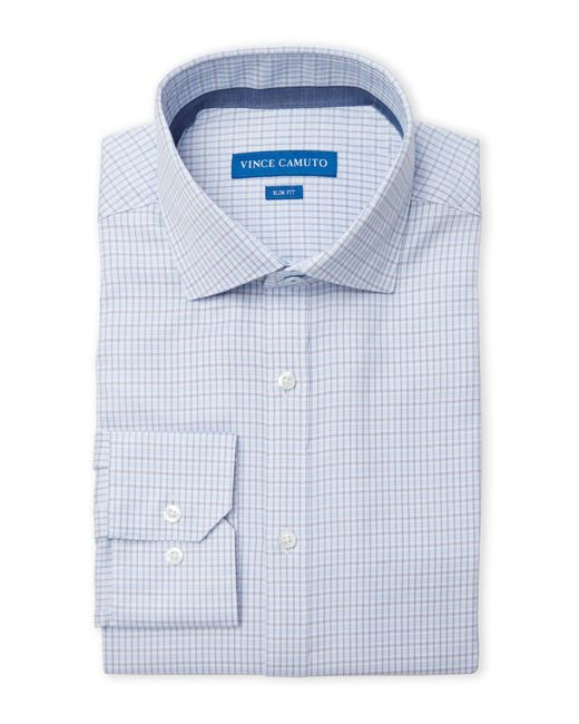 Vince Camuto | Blue Slim Fit Dress Shirt for Men | Lyst