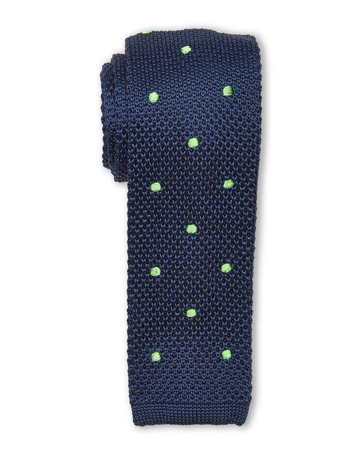 Burma Bibas | Blue Dotted Textured Knit Tie for Men | Lyst