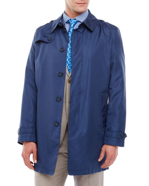 tommy hilfiger fletch trench coat in blue for men navy. Black Bedroom Furniture Sets. Home Design Ideas