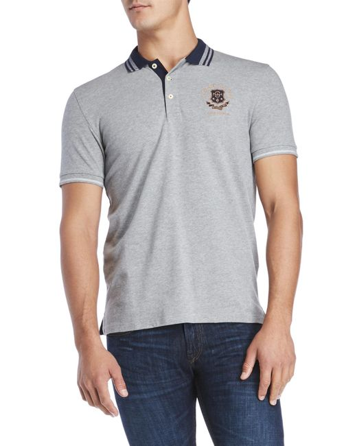 Gant | Gray Pique Rugger Polo for Men | Lyst