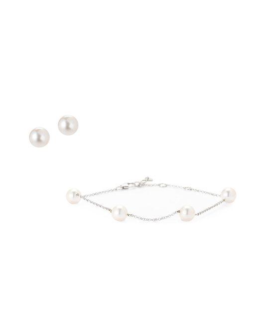 Tara Pearls - Metallic Akoya Cultured Pearl Bracelet & Stud Earrings Set - Lyst