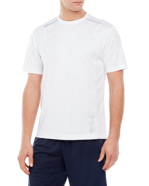 Fila stamina crew neck tee in white for men white high for High crew neck t shirts