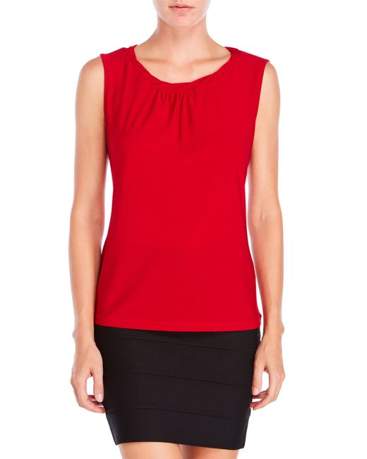 Tahari | Red Petite Knotted Shell | Lyst