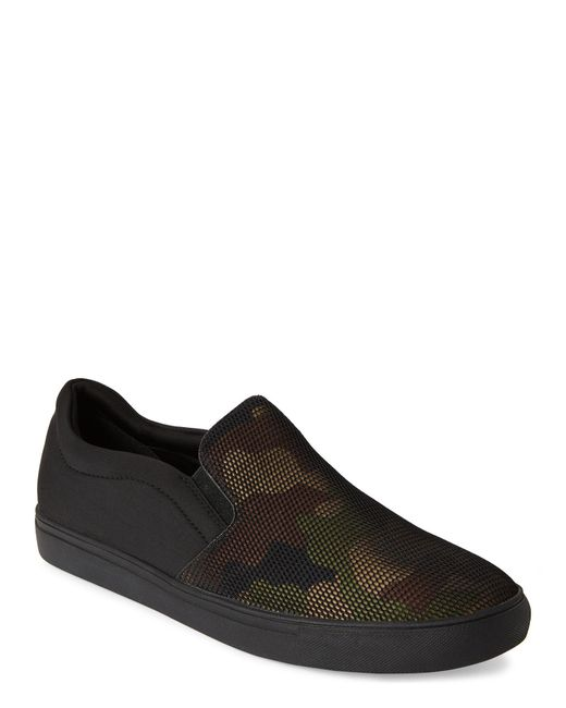 Kenneth Cole Reaction - Black Camo Mesh Slip On Sneakers for Men - Lyst