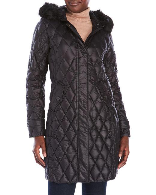 Lauren By Ralph Lauren Packable Diamond Quilted Coat In