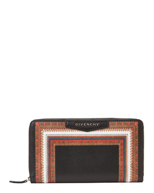 Givenchy - Black Printed Large Zip-around Wallet - Lyst