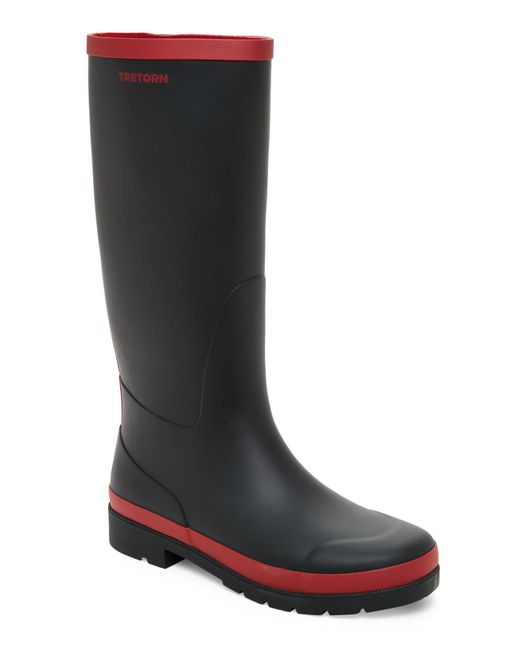 Tretorn | Black & Bordeaux Leah Rain Boots | Lyst