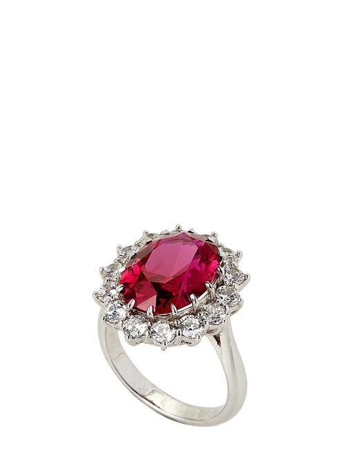 Fantasia by Deserio - Multicolor Silver-tone Princess Diana Ruby Cubic Ziroconia Ring Size 7 - Lyst