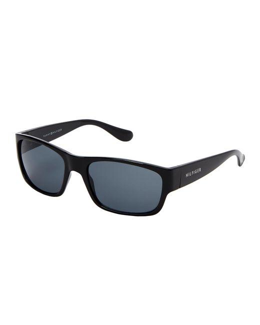 Tommy Hilfiger - Mario Black Square Sunglasses for Men - Lyst