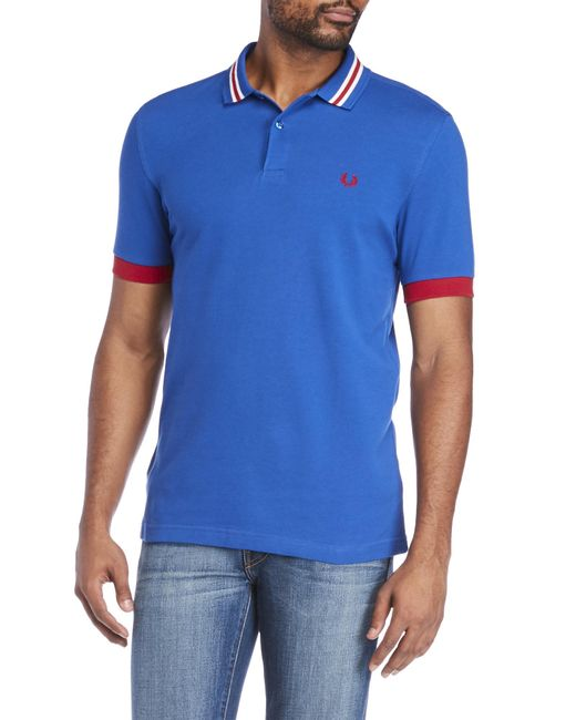 Fred Perry | Blue Stripe Collared Shirt for Men | Lyst