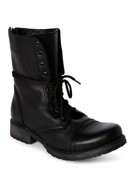 Steve madden Black Fame Cap Toe Combat Boots in Black for ... Steve Madden Combat Boots Men