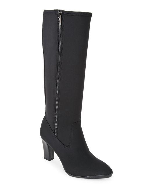 Ak Anne Klein | Black Elek Neoprene Tall Boots | Lyst