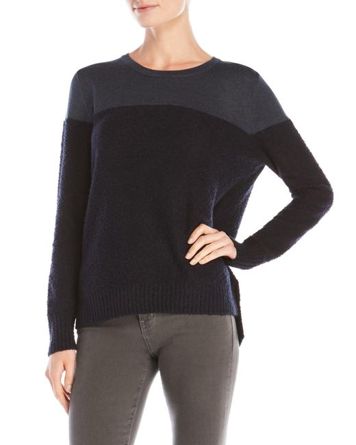 Shae | Blue Color Block Sweater | Lyst