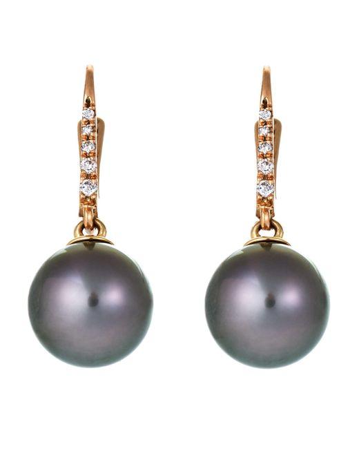 Tara Pearls | Multicolor Tahitian Cultured Pearl & Diamond Drop Earrings | Lyst