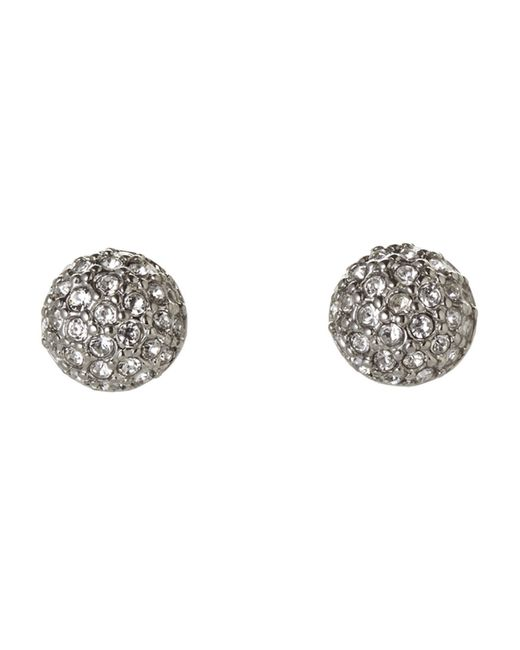 Givenchy | Metallic Silver-Tone Embellished Stud Earrings | Lyst