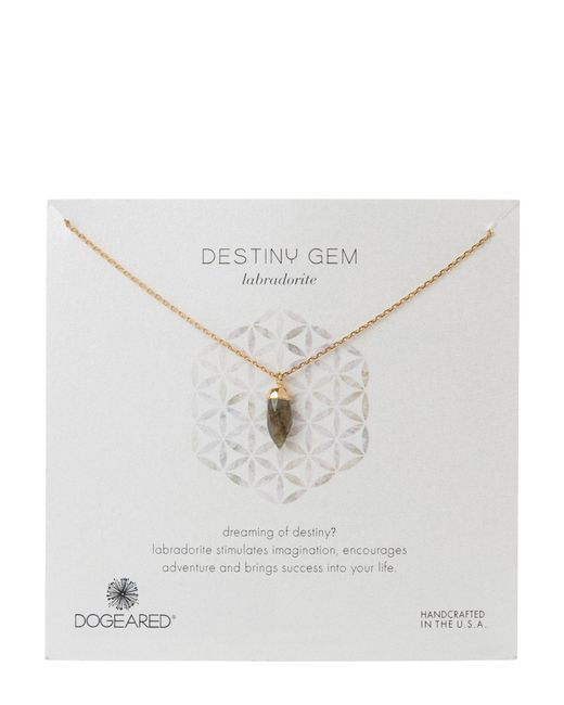 Dogeared | Multicolor Gold-Tone Destiny Gem Labradorite Necklace | Lyst
