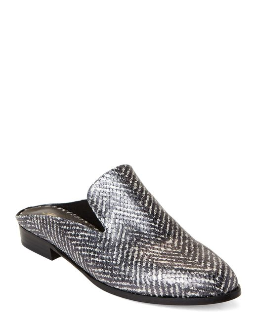 a32a1f8f3 Robert Clergerie - Gray Alice Embossed Leather Mules - Lyst ...