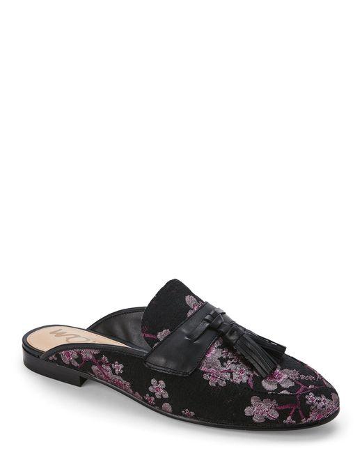 Sam Edelman | Black Paris Brocade Tasseled Loafer Mules | Lyst