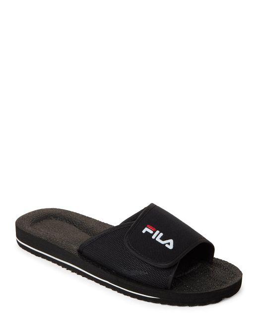 Fila - Black Slip-on Low Slide Sandals for Men - Lyst