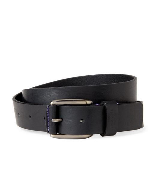 Ted Baker - Black Grained Leather Casual Belt for Men - Lyst