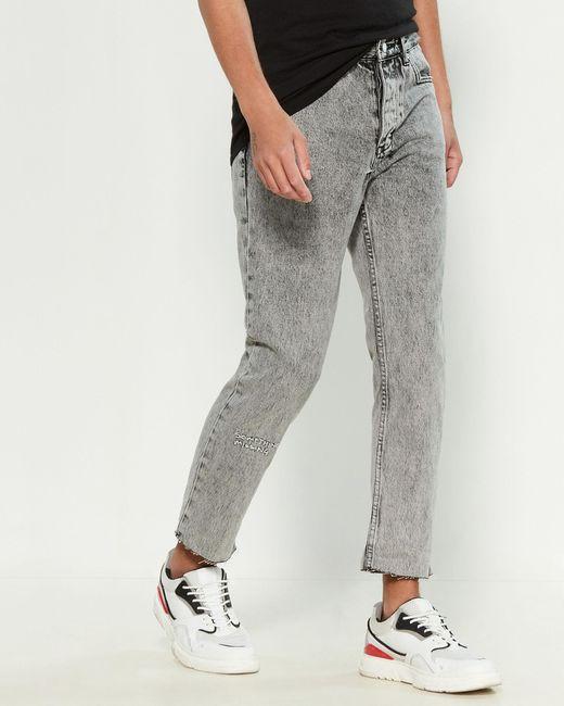 Ksubi Gray Chitch Chop Ash Clean Scribble Jeans for men