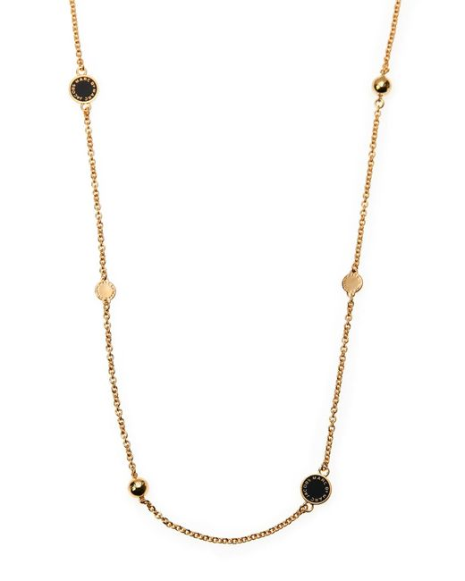 Marc By Marc Jacobs - Metallic Gold-Tone & Black Double Wrap Station Necklace - Lyst