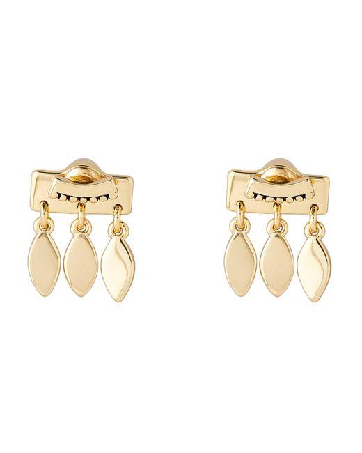 Luv Aj - Metallic Gold-tone Marquise Dangle Stud Earrings - Lyst