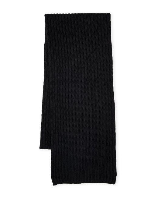 Sofia Cashmere - Black Rib Knit Cashmere Scarf - Lyst