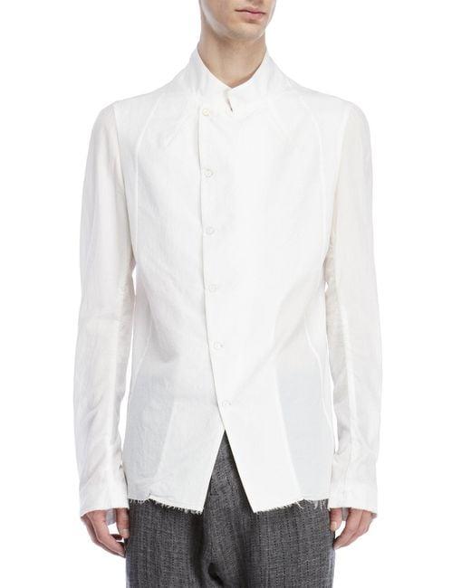 Masnada - Black Asymmetrical Cotton Shirt for Men - Lyst