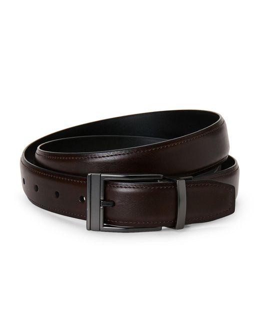 Kenneth Cole Reaction - Black Reversible Faux Leather Belt - Lyst
