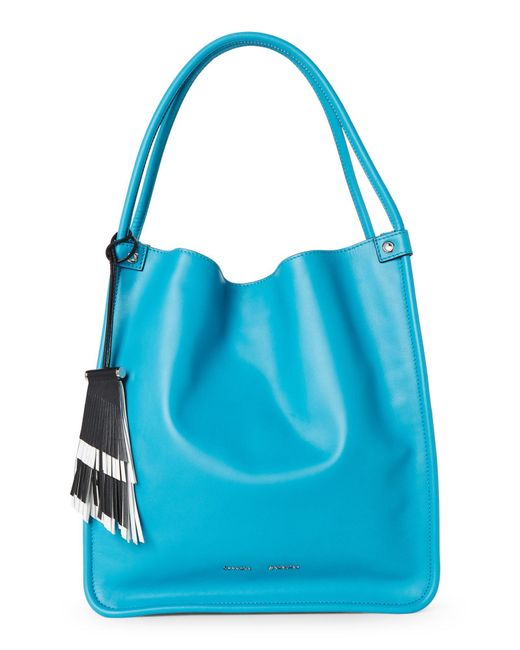 Proenza Schouler - Blue Turquoise Medium Soft Leather Tote - Lyst