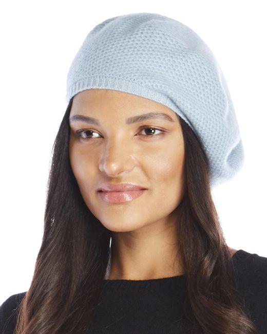 Portolano - Blue Honeycomb Cashmere Beret - Lyst