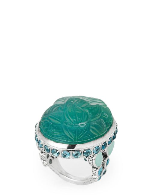 Stephen Dweck - Green Teal Mother-of-pearl Accented Ring Size 7 - Lyst