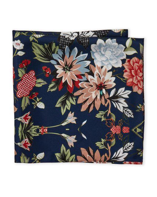 Laundry by Shelli Segal - Blue Floral Print Silk Scarf - Lyst