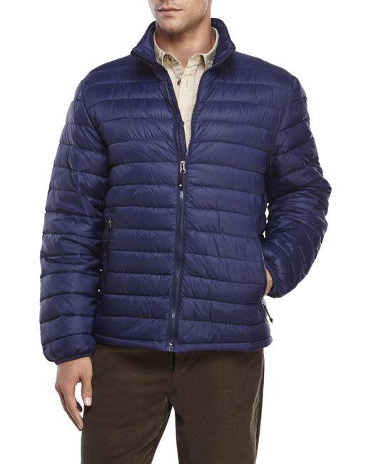 Weatherproof - Blue Packable Ultra Light Down Jacket for Men - Lyst
