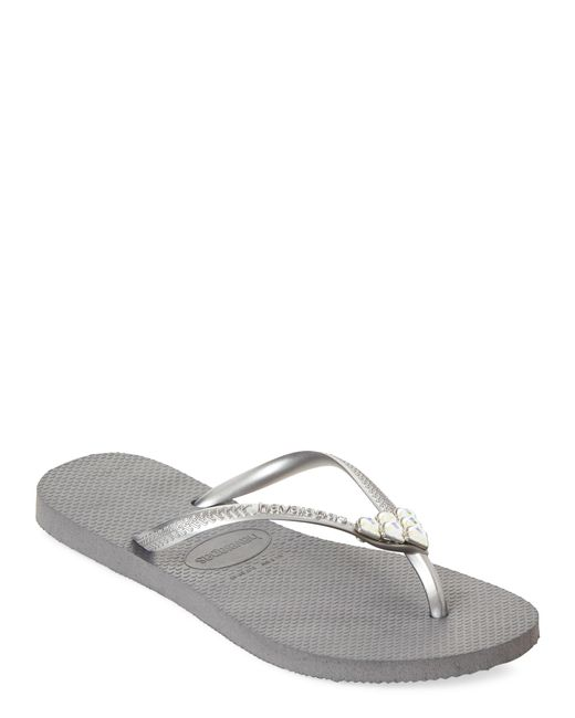 accb20267a4 Havaianas - Gray Steel Grey Slim Mermaid Sandals - Lyst ...