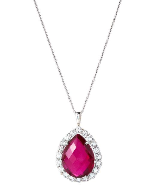 Anzie - Multicolor Rhodium-plated Pear-shaped Pendant Necklace - Lyst